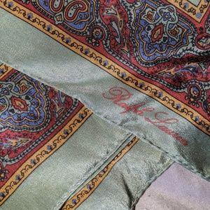 Vintage Silk Ralph Lauren Scarf